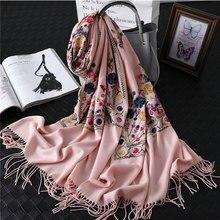 Женский дизайнерский шарф, зимний кашемировый шарф с вышивкой, женские шали и накидки, покрывало из пашмины, 2019