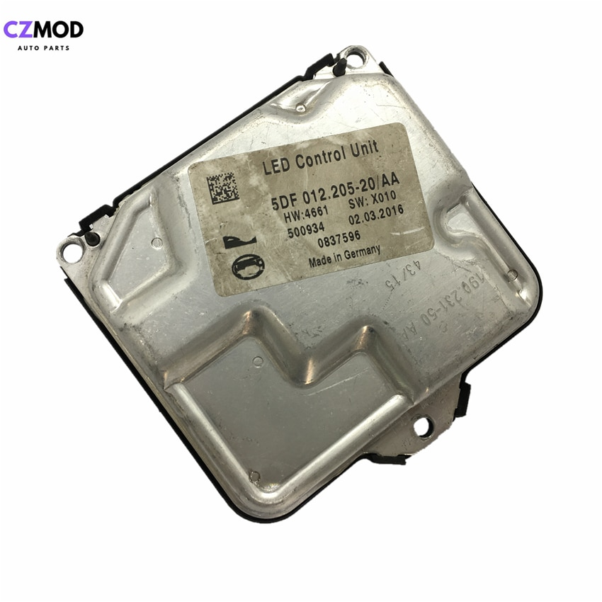 Czmod original 5df01220520aa farol led driver unidade de controle do computador 0837596 5df 012.205-20/aa usado acessórios do carro