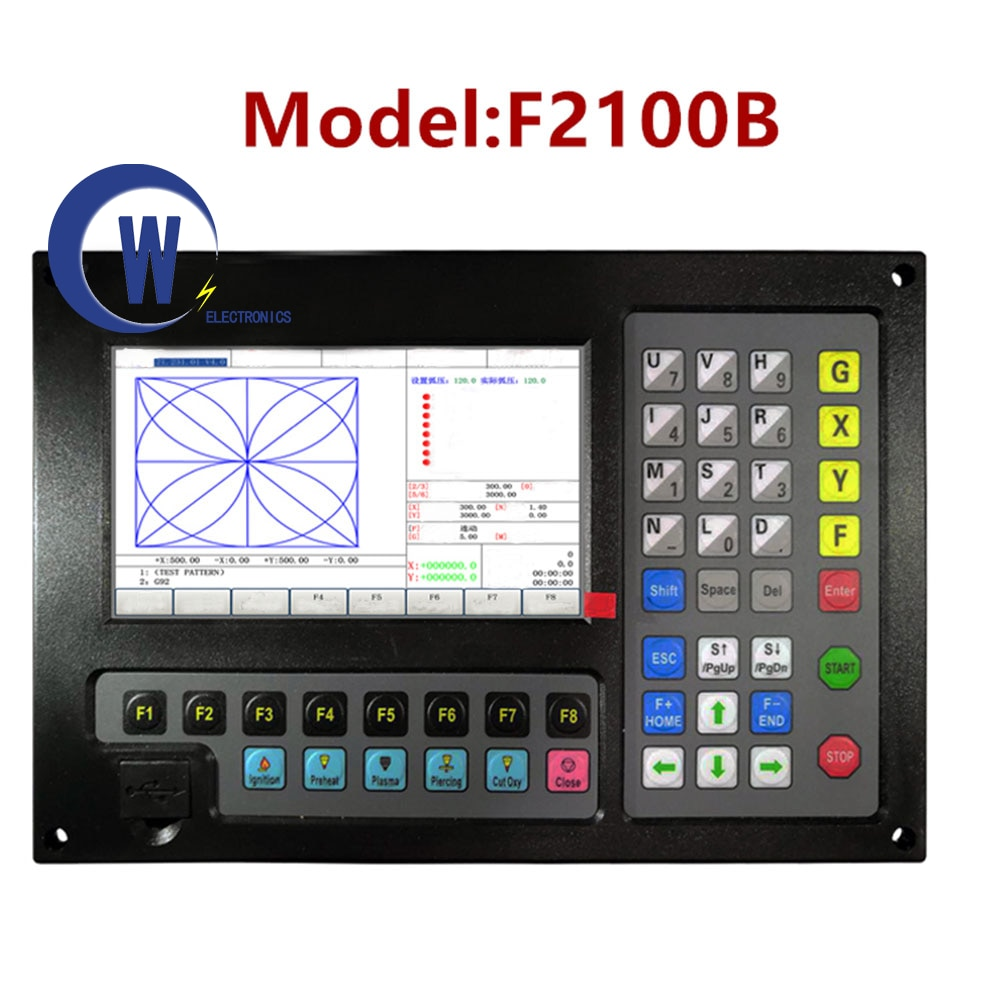 2-محور نك البلازما قطع نظام التحكم F2100B يدعم G رمز و فاستكام و FreeNest ل البلازما آلة قطع آلة لحام