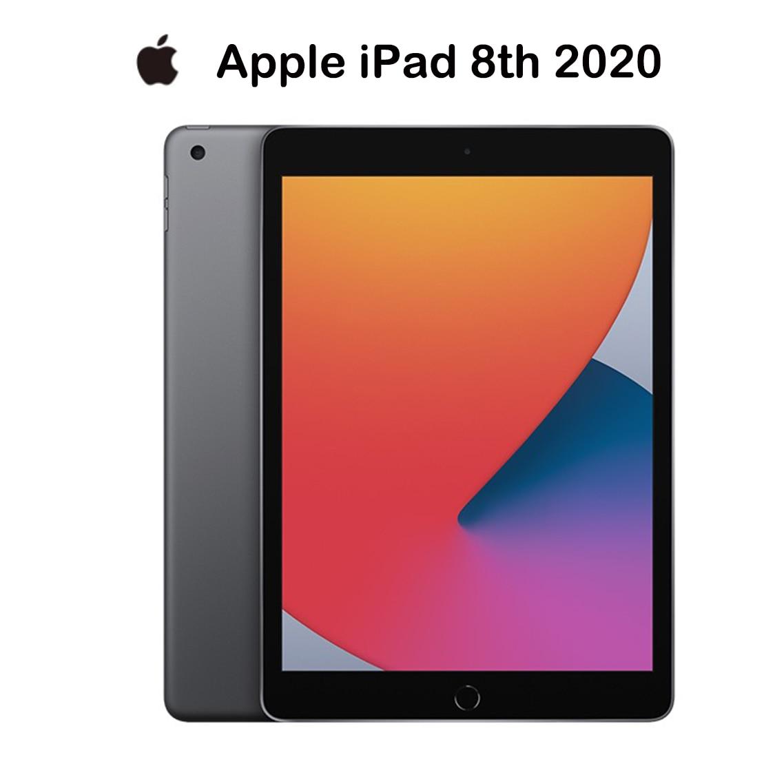 Novo original 2020 apple ipad 2020 ipad 8 cinza (10.2 polegadas, wi-fi, 128gb)-(8th geração)