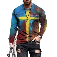 jesus belief cross 3d print hip hop mens spring autumn clothing fashion casual top long sleeve t shirt 2021 o neck pullover