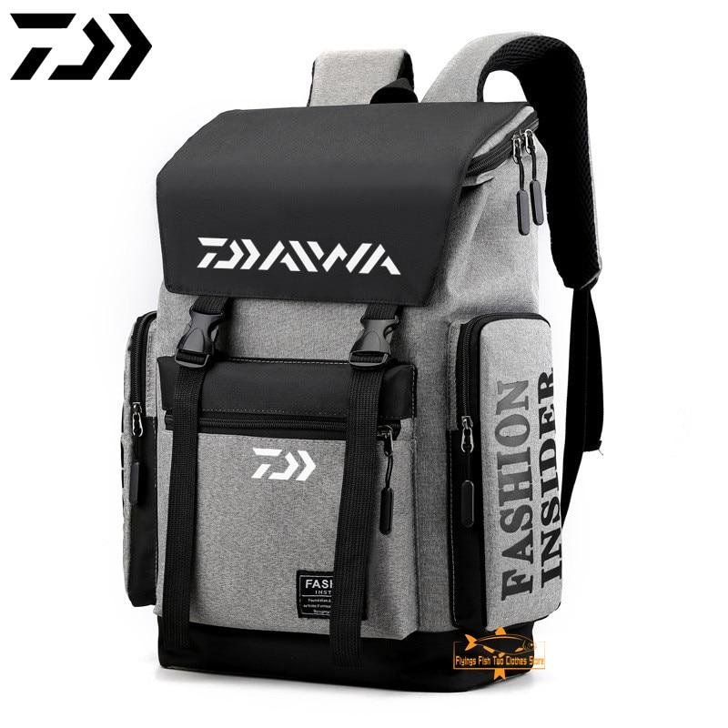 2021 Daiwa рыболовный рюкзак зимняя мужская Спортивная дышащая износостойкая водонепроницаемая сумка для рыбалки Простая Дорожная сумка