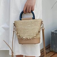 summer straw bags for women 2021 new design small beach crossbody shoulder bag female travel handbags and totes