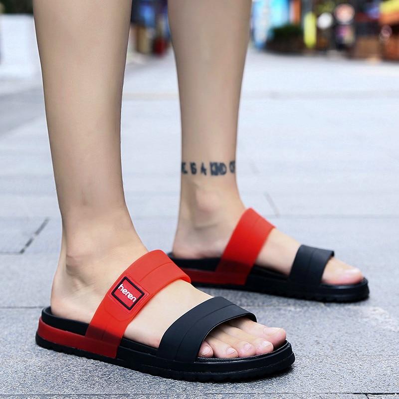 Sandals Shoes Men Thick Sole Flip Flops Men Summer Fashion Beach Comfortable Soft Mens Beach Shoes Swimming Pool Slides