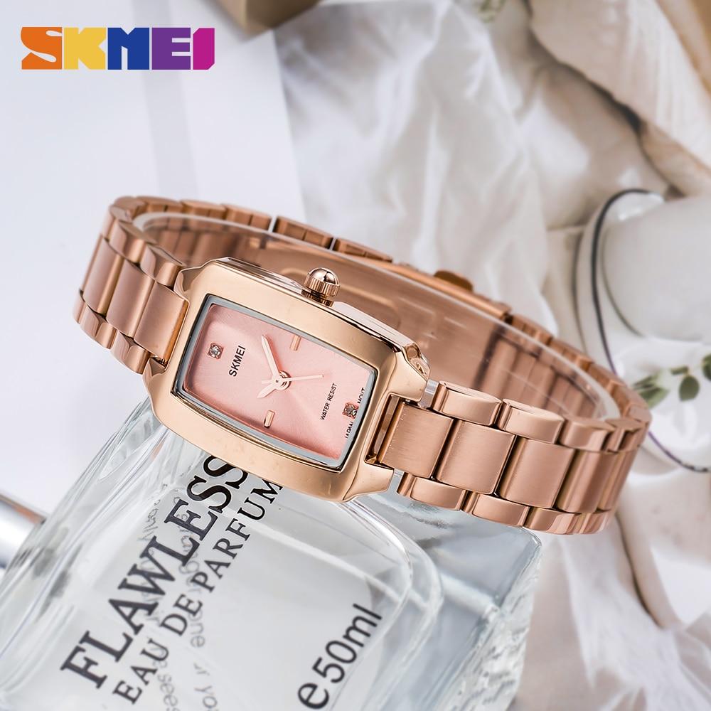 SKMEI Japan Quartz movement Ladies Female Girl Watch Luxury Diamond Dial Dress Clock Women Watches reloj mujer Montre femme enlarge