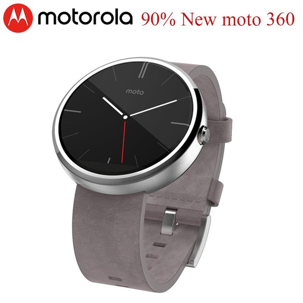 90% جديد موتورولا ساعة ذكية موتو 360 1st جيل ساعة يد بلوتوث
