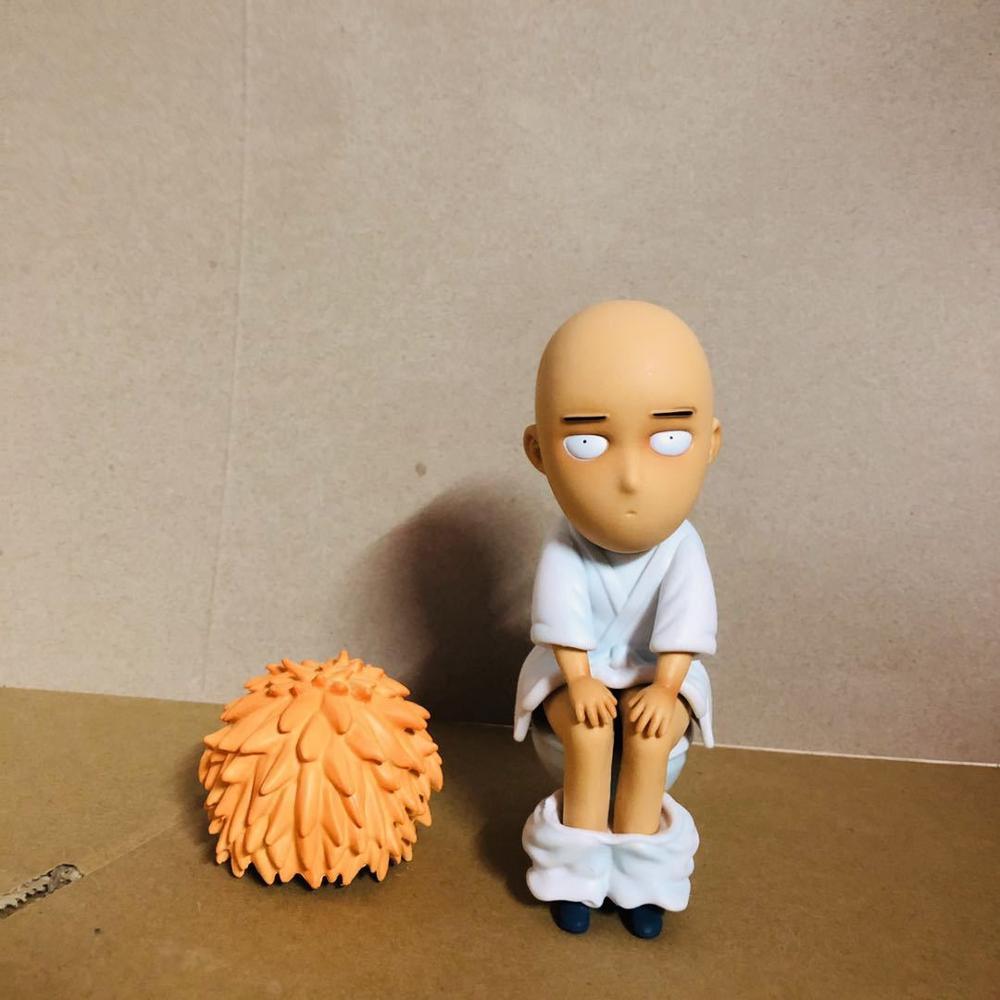 Um soco homem saitama sensei toalete figuras de ação 150mm anime um soco-homem estatueta modelo de brinquedo