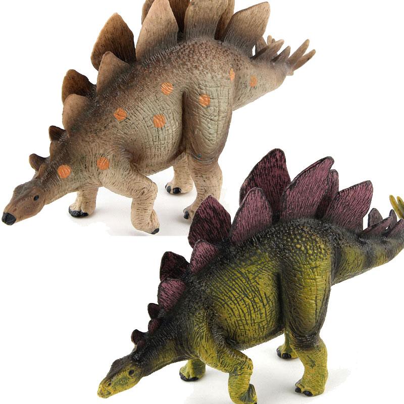 hot soft cute simulation dinosaur Big Size Jurassic Wild Life Dinosaur Toys Pve Soft Dinosaur Stegosaurus Simulation Model Action Figures for Kids Boys Gifts