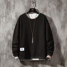 2020 Mens Casual Sweatshirt Hoodie Fashion 5XL  solid  Sweatshirt Pullover Male Long Sleeve Street Wear Sudadera Hombre