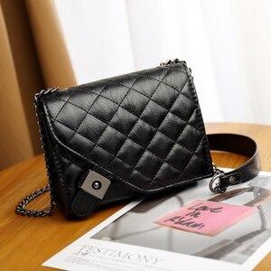DAI.MM 2021 NEW HOT Diamond texture Leather Crossbody Bags For Women Small Shoulder Messenger Bag Female Luxury Chain Handbags