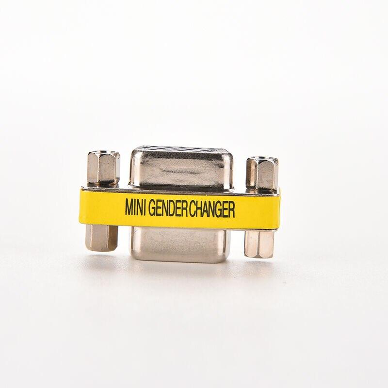 Conector adaptador de 15 pines VGA SVGA hembra a hembra, MINI Gender Changer, convertidor de extensión de Cable F/F