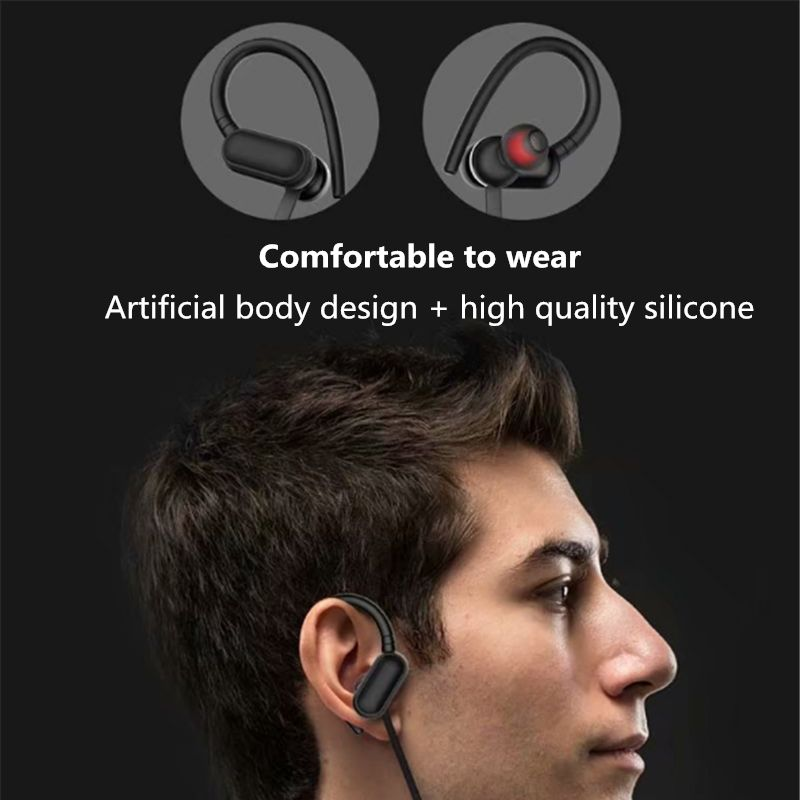 10PCS Support TF card Earphone Bluetooth Wireless Headset MP3 player function Neckband Earphones Waterproof Sport Earbud enlarge