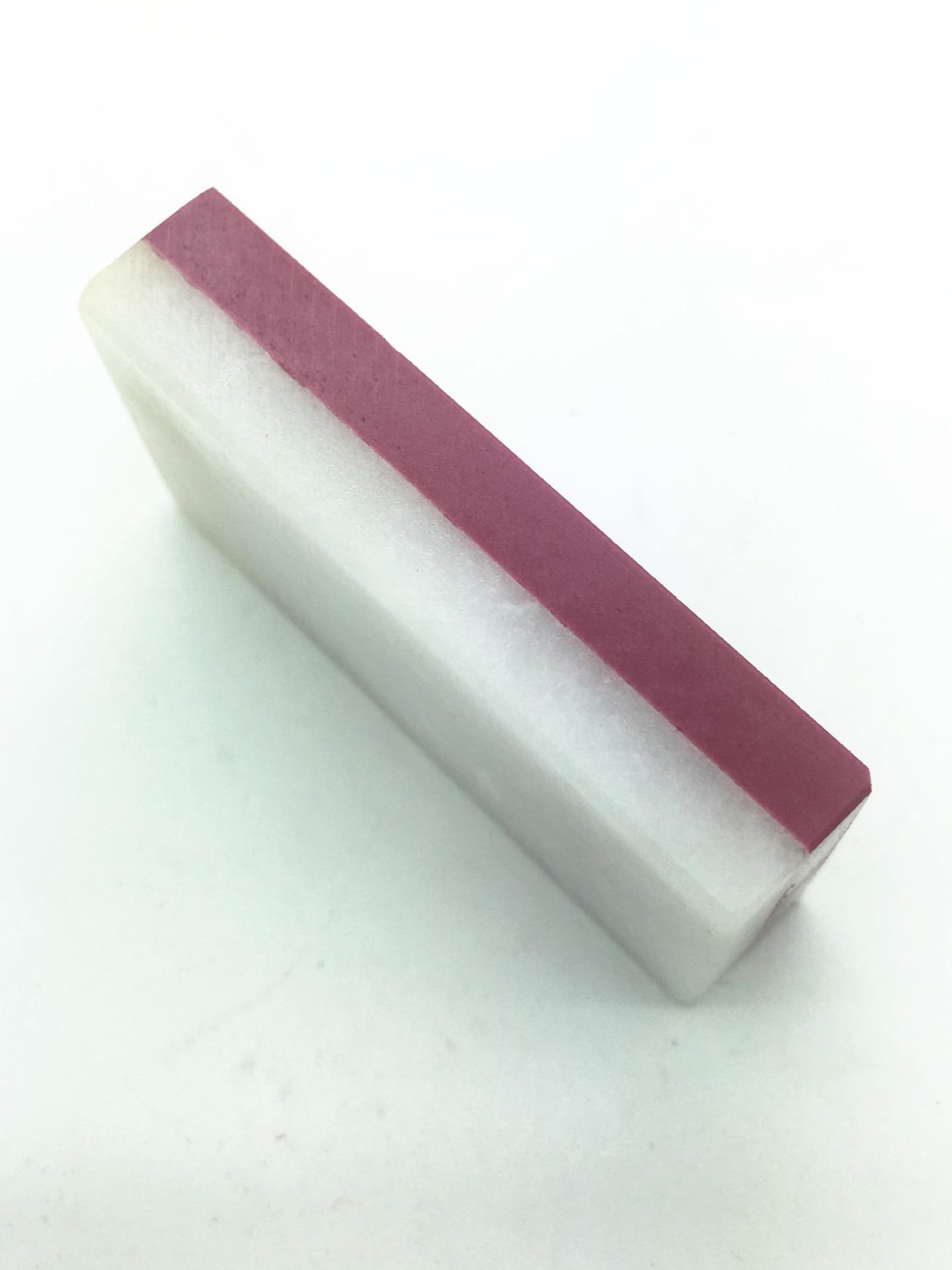 1 pieza 50x25x10mm piedra de afilar 3000/8000 Natural HOJA DE Oilstone pulido rojo y blanco cuchillo de afilar piedra de afilar
