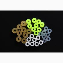 Tigofly 200 pcs 4 colors Silicone Band Fishing Skirts Tools SpinnerBait Buzzbait Hand Fittings Fishing Accessories Materials