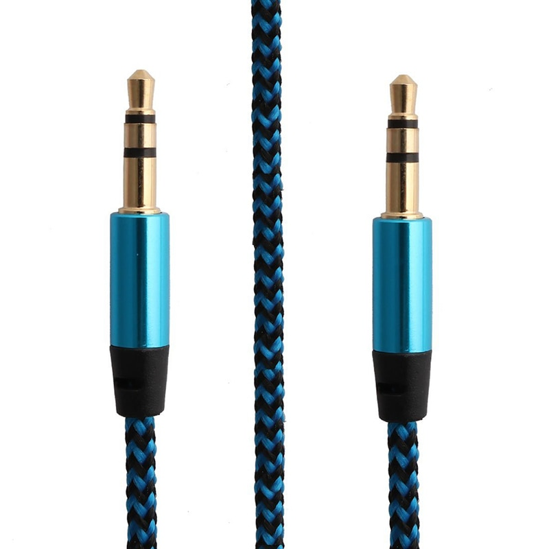 Durable Practical Audio Cable 3.5mm Gold Plated Plug Male To Male Cable Line For IPhone Samsung Car