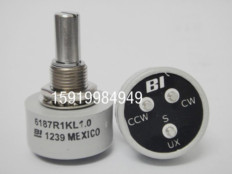 [VK] ثنائي 6187R 1K L1.0 مقياس جهد بلاستيكي موصل, مفتاح سبوت غير محدود 360 درجة