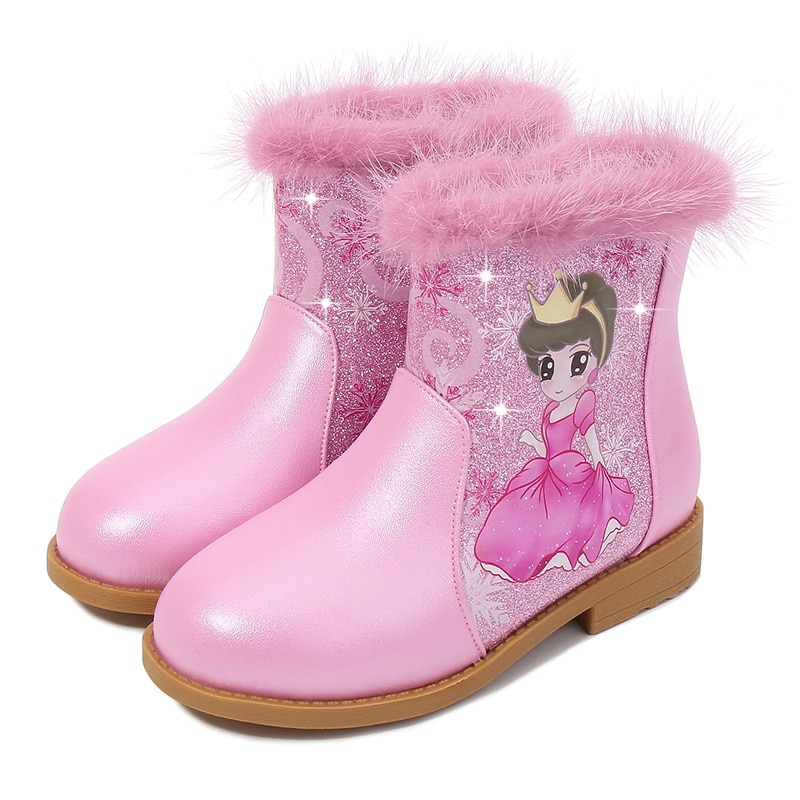 Girls' boots children Princess boots children single shoes Pink Party shoes Christmas gifts 5-6-7-8-9 years old Botas femininas