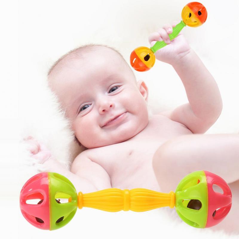 1/5/10 Uds. Nuevo juguete de plástico sonajero para manos juguete educativo para niños y niñas mordedores suaves para niños móviles