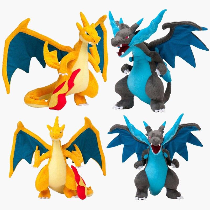 Figuras de acción de Pokémon de TAKARA TOMY, dinosaurio, XY Charizard Plush Million MAGE Evolution, amarillo y azul muñeco de peluche, regalo para niños, PKM