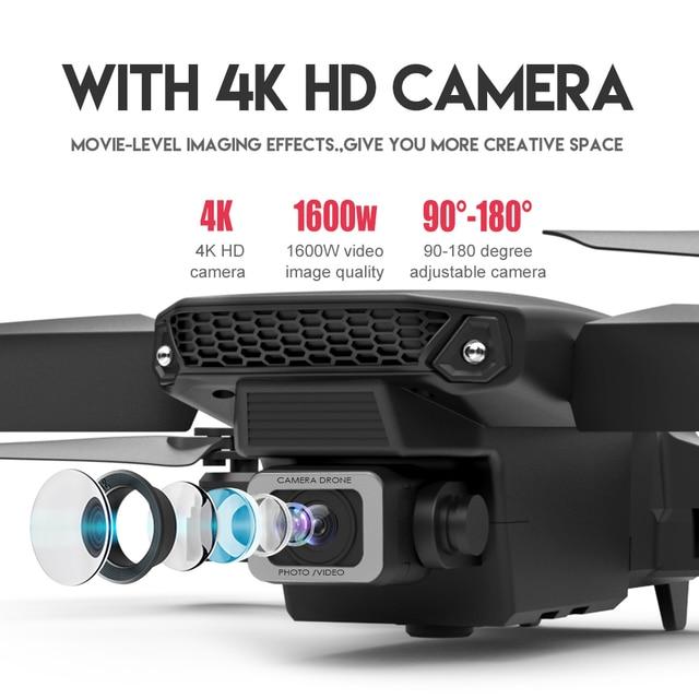 LSRC 2021 New Quadcopter Drone E525 HD 4K 1080P Camera and WiFI 2