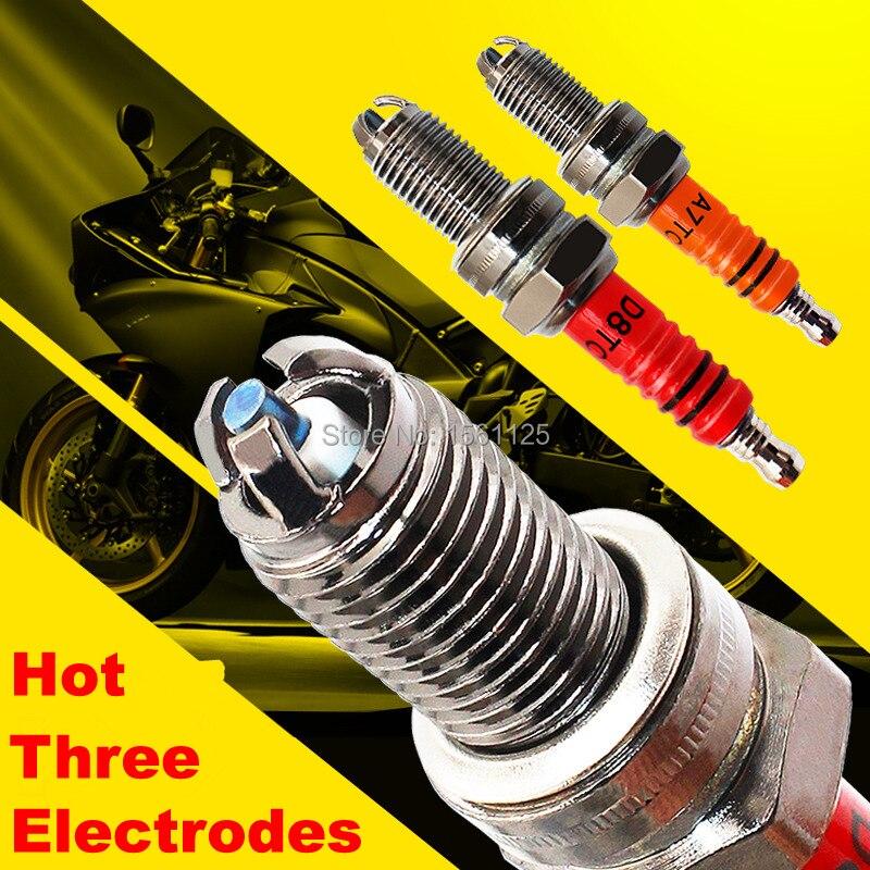 1PC de tres electrodos Super D8TC de bujía D8TJC 125cc para DR8EA D8EA DR8EIX DPR8EA-9 DPR8EIX-9 IX24 X24ESR-U HG22
