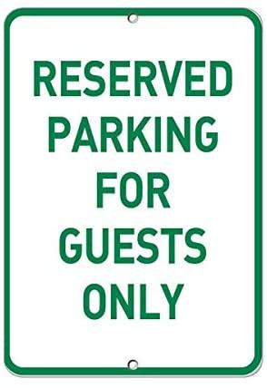 Crysss Предупреждение ительный знак для парковки, только для гостей, парковочный знак, дорожный знак, деловой Знак 12x16 дюймов, алюминиевый мета...