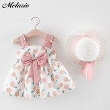 Melario /Одежда для маленьких девочек 2019 г ., комплект одежды наряд для маленьких девочек летняя пляжная одежда в стиле бохо для малышей Топы + штаны + шапка
