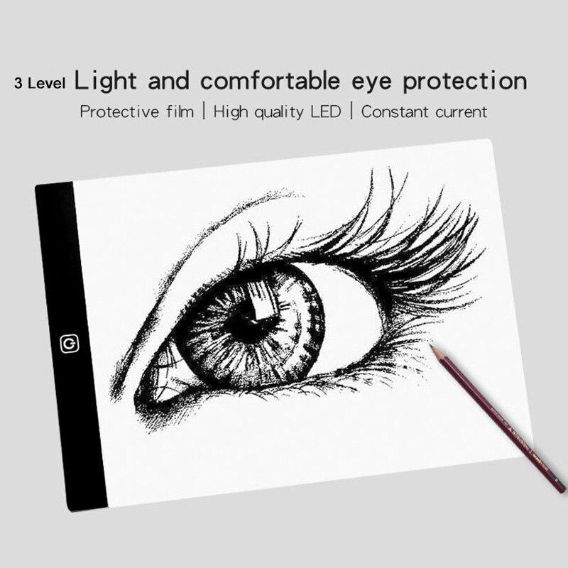 A4 A5 USB LED Light Board Thin Light Pad Light Box For Diamond Painting Artcraft  Watercolour Copy Tattoo Copy Quilting Xray Pad