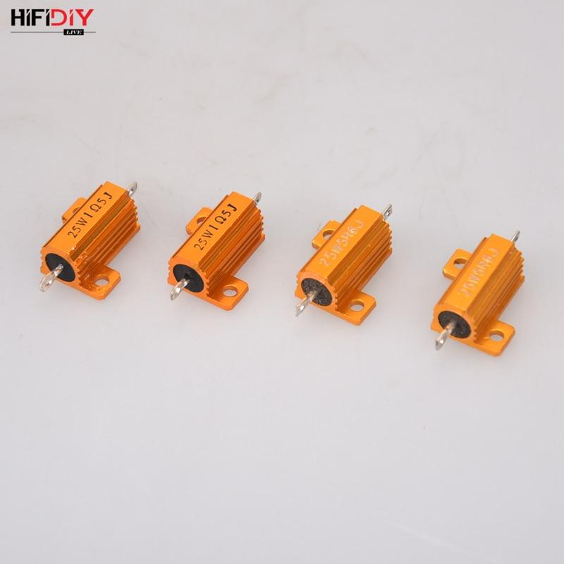 HIFIDIY, carcasa de aluminio de AUDIO en vivo, carcasa de altavoz de alta potencia, divisor de resistencias de frecuencia, 25 W, 2,2, 3,3, 8,2, 24 Ohm, piezas DIY