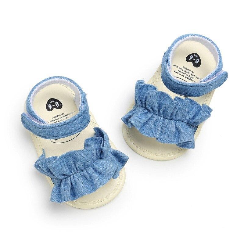 Zapatos de bebé para niños pequeños, sandalias de playa con lazo antideslizantes de princesa transpirables a cuadros de verano, novedad