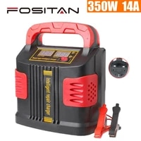 350w 14a heavy duty smart car battery charger pulse repair 12v24v 3 stage charging smart charger digital lcd display h quality
