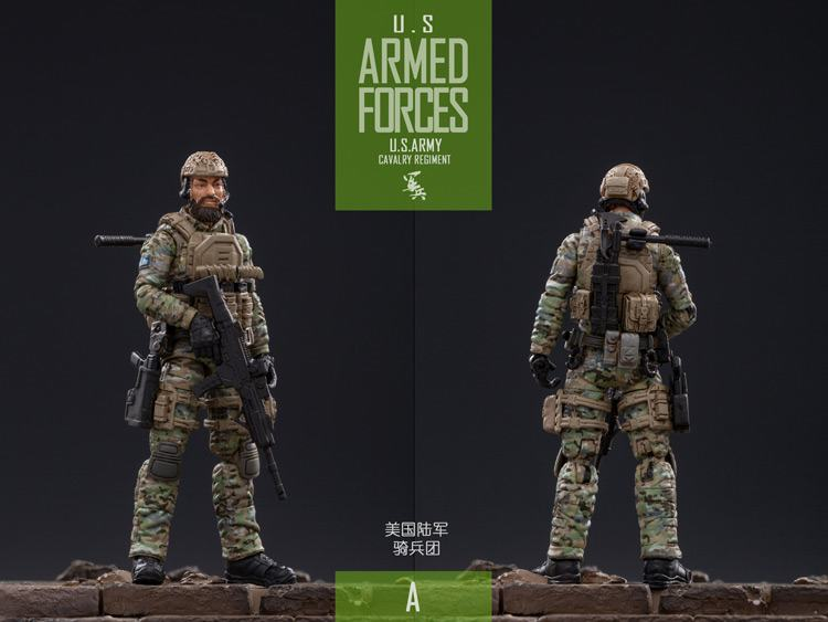 В наличии 1/18 масштаб коллекционный солдат армии США кавалерия полк экшен солдат игрушки 5 фигурок набор JTUS004 модель для фанатов подарки
