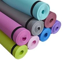 173*61 см 6 мм коврики для йоги EVA с позиционной линией нескользящий коврик для фитнеса для начинающих экологический гимнастический коврик для ...