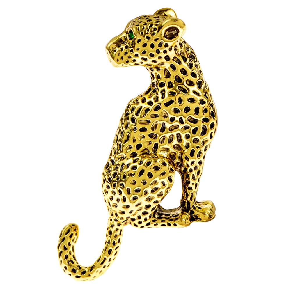 Женская и мужская брошь CINDY XIANG, винтажная Золотая брошь с леопардовым принтом, ювелирные изделия с животными, зимнее пальто, вечерние аксессуары, подарок