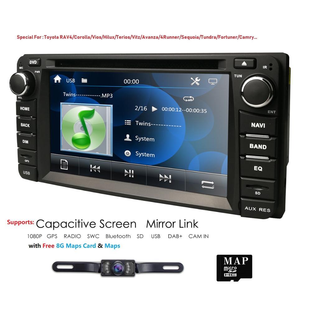 6,2 pulgadas WIN CE 6,0 Universal 2 din coche reproductor Multimedia reproductor de Radio para coche estéreo para Toyota RAV4 VIOS Corolla corona CAMRY