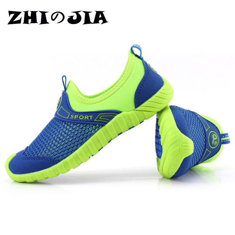 Light Children Mesh Sneakers Aqua Shoes Summer Breathable Outdoor Footwear Slip on Kids Casual Shoes