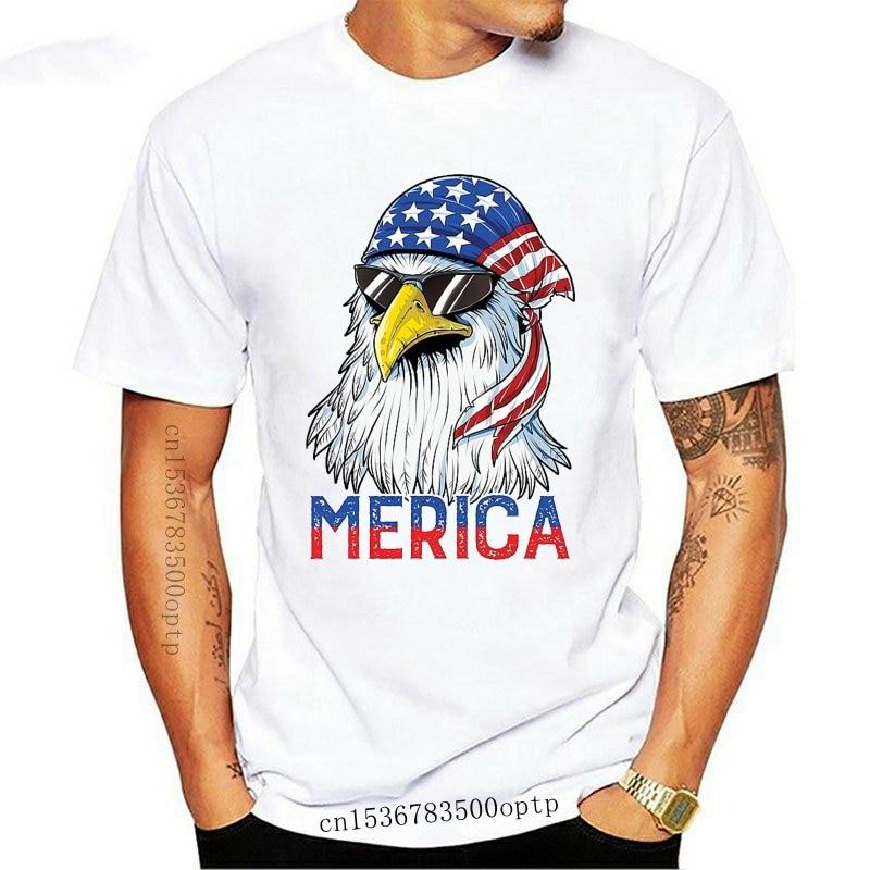 New 2021 Brand 4th Of July Eagle Mullet Merica 2021 Summer Men Short Sleeve T-Shirt