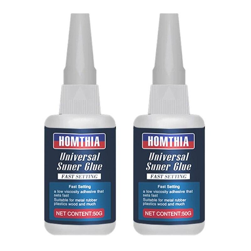 2 pçs 50ml multifunction uniglue universal super cola de vidro ligação artesanal jóias pedra rápido seco universal cola