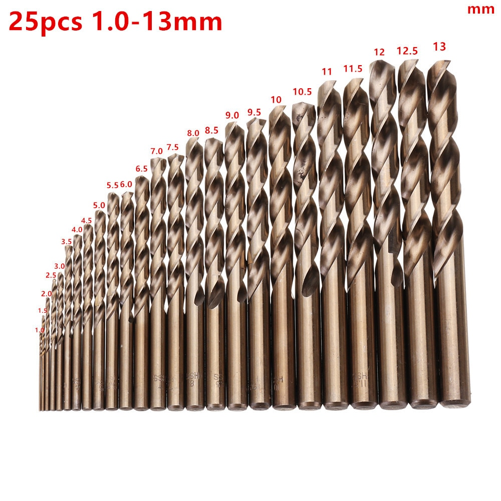 High Quatity HSS-Co M35 Cobalt Straight Shank Twist Drill Bit Power Tools Accessories for Metal Stai