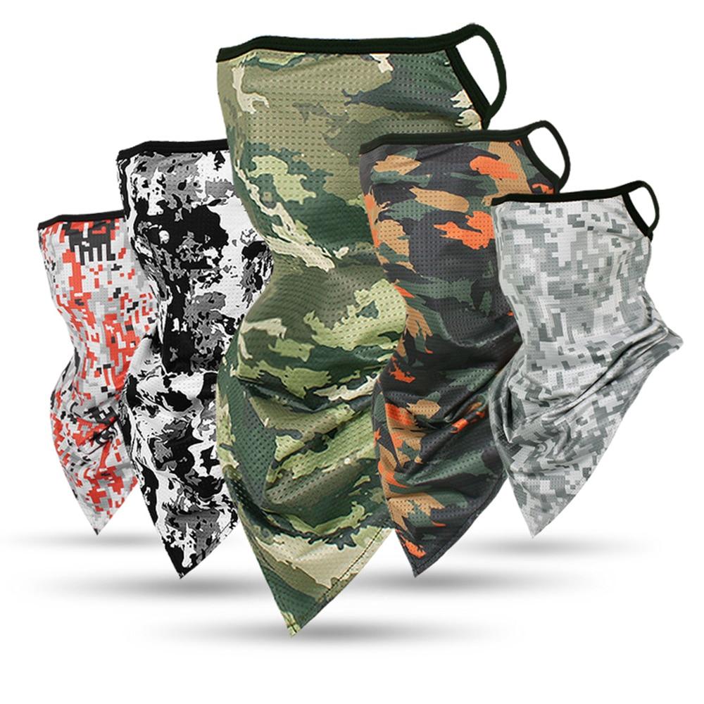 Camouflage Serie Ice Silk Sport Bandana Dreieck Anhänger Gesicht Maske Rohr Schal Neck Leggings Abdeckung Angeln Stirnband Laufende Hik
