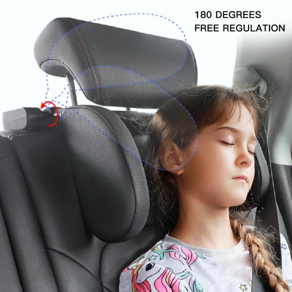 Car Headrest Pillow Car Travel Neck Pillow Sleeping Seat Side Pillow Soft and Adjustable CSV