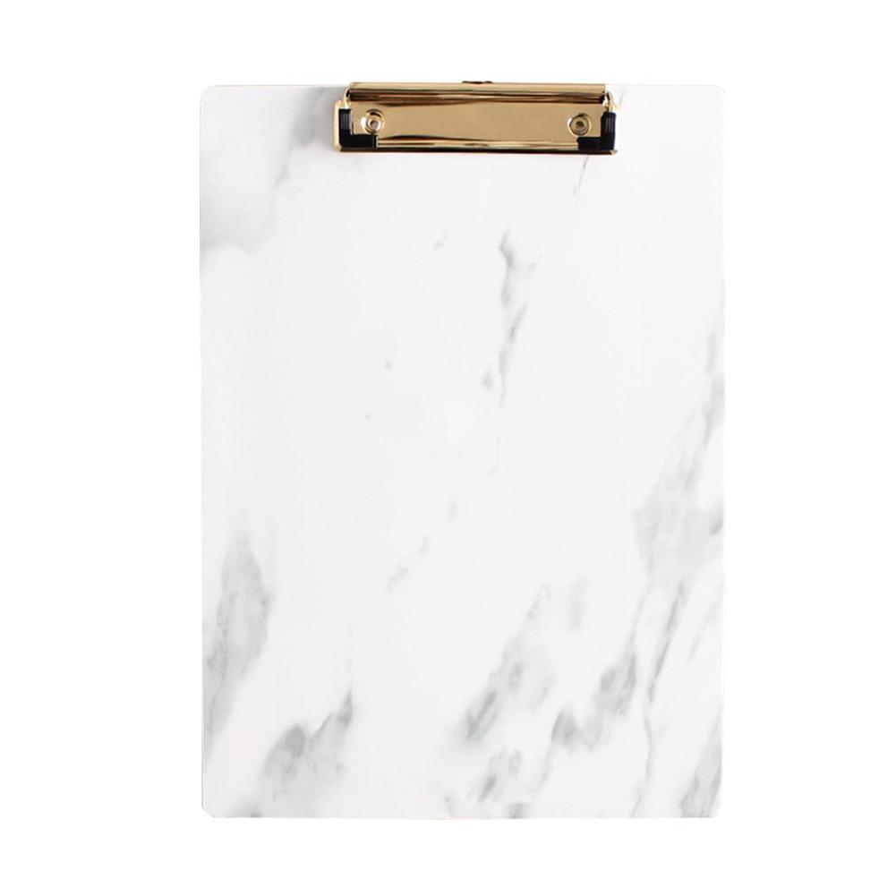 A4 A5 Almacenamiento de tablero duro documento oficina escolar accesorios de conferencia soporte de papel almohadilla de escritura portapapeles carpeta Clip de Metal