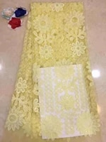 french 3d beaded lace fabrics african nigerian lace fabric high quality lace applique material for wedding dress 5 yards d61