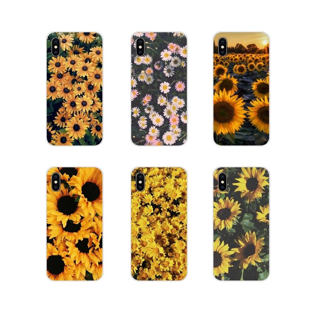 Pequeña daisy girasol accesorios cubiertas de los casos del teléfono para Apple...