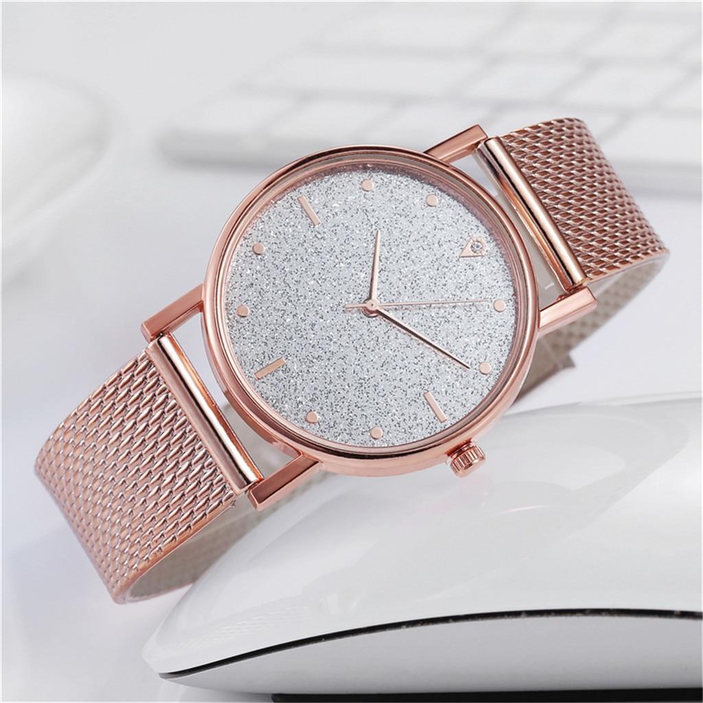 Reloj informal de lujo para mujer, reloj de cuarzo con esfera de acero inoxidable, reloj informal para mujer, reloj sencillo para mujer