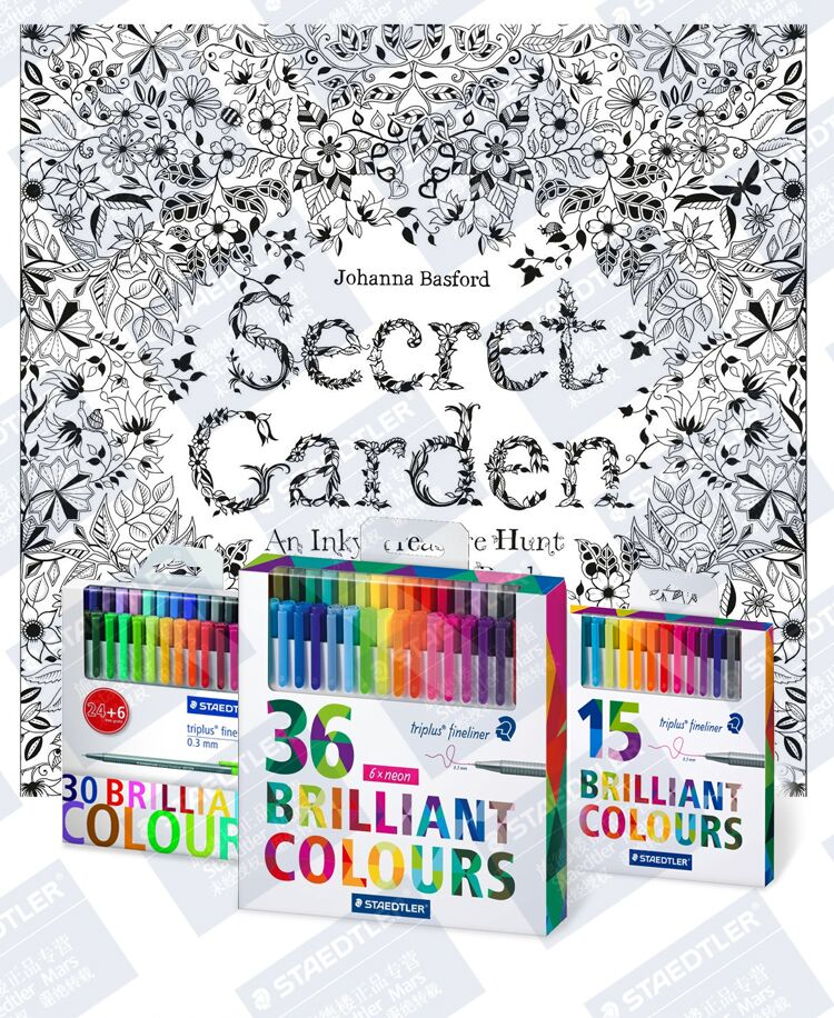 STAEDTLER 334 Triplus Fineliner kalemler parlak renkler ince çizgi kalem resim kalemi kalemler 15/20/30/36/42/48 renkler 0.3mm boyama için
