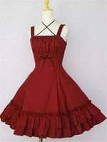 classic lolita jsk dress sleeveless ruffled cotton blend lolita jumper skirts