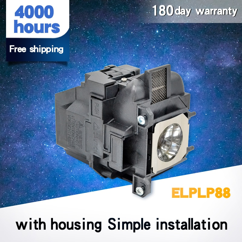 Compatible lamp with Housing for ELPLP88 for EB-S300/EB-S31/EB-U04 EB-X31 EB-W29 EB-X04 EB-X27 EB-X29 EB-X31 EB-X36 EX3240 elplp88 v13h010l88 for lamp projector eh tw5350 eh tw5300 eb s27 eb x31 eb w29 eb x04 eb x27 eb x29 eb x31 eb x36 ex3240