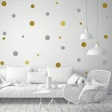 54 stücke/44 stücke/18 stücke Gold Silber Tupfen Wand Aufkleber Kindergarten Kinder Zimmer Kinder Wand Abziehbilder wohnkultur DIY Kunst Wand Dekoration