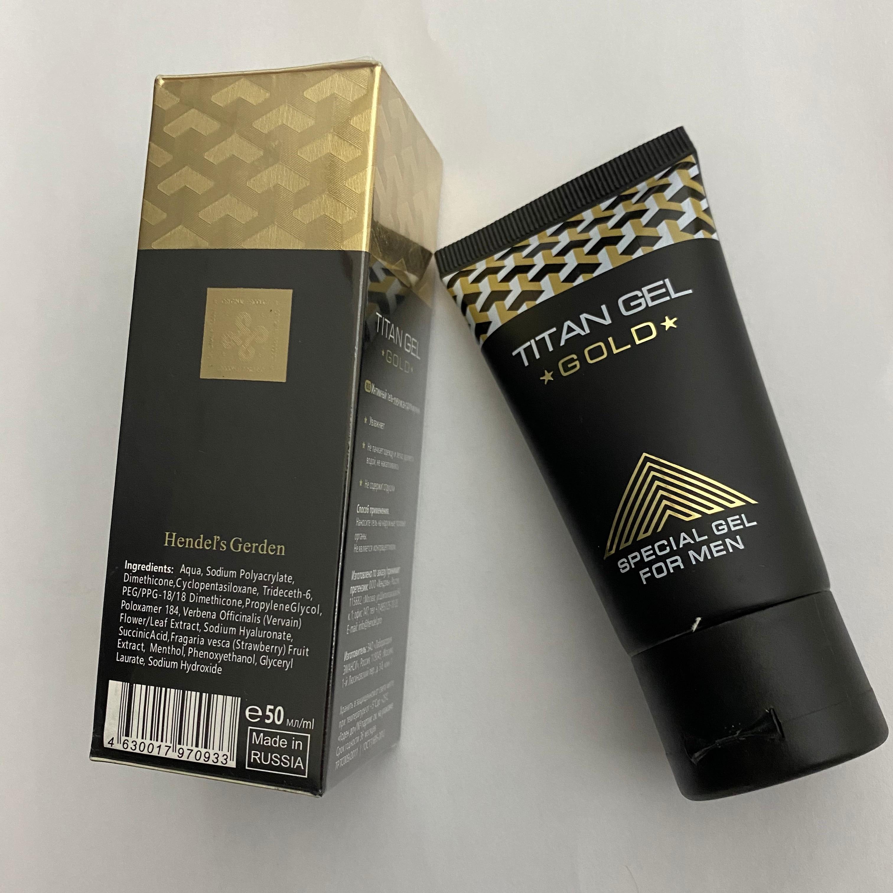 TITAN GEL Black Made In Russia Penis Enlargement gel male penis extension massage cream essential oi